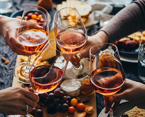 Weingläser Weißherbst Rosé